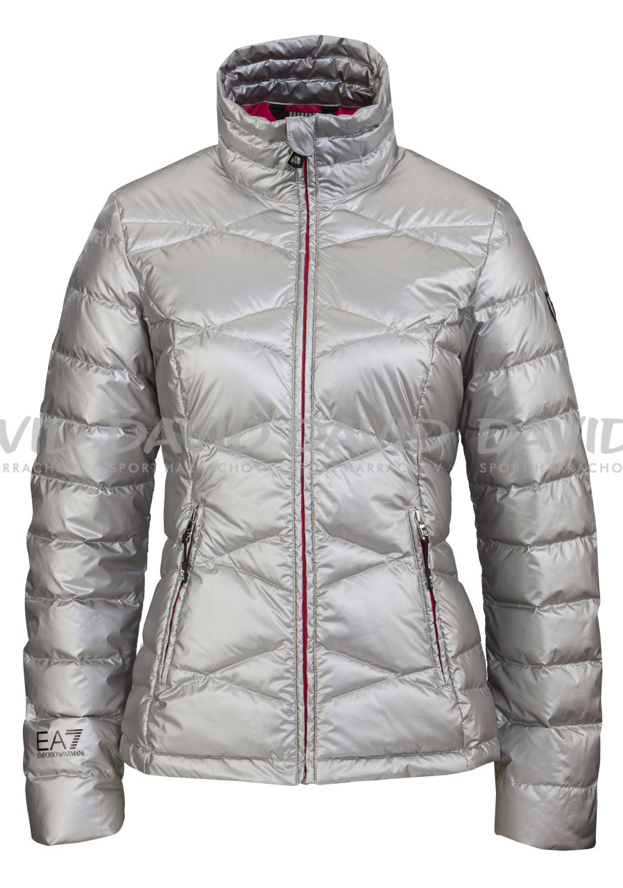 Women's feather jacket Armani 6YTB17 silver
