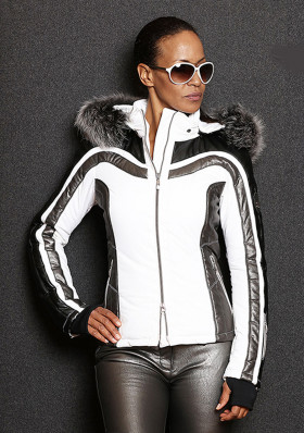 Ladies winter jacket Emmegi Abby white