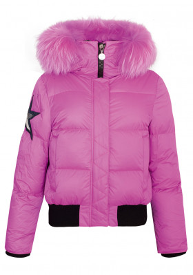 Women's winter jacket High Society Blouson Amy with fur Pink