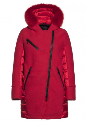 Women's coat Goldbergh BORG coat fox fur RED