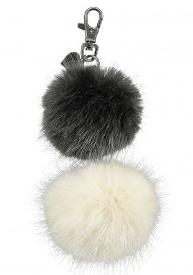 Pendant on bag BARTS POM HANGER WHITE