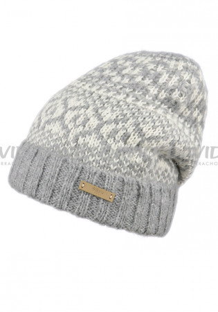 detail Women's winter hat BARTS PIAVE HEATHER GREY