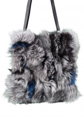 Women's handbag GENA AZALIA FOX NAVY/GRY
