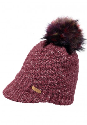 Women's knitted hat Barts Millie burgundy