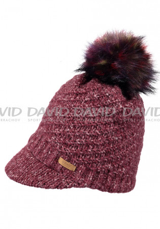 detail Women's knitted hat Barts Millie burgundy