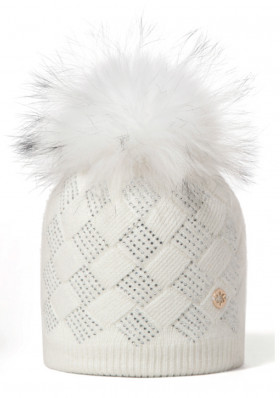 Women's hat Granadilla Shiny Chess white