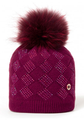 Women's hat Granadilla Shiny Chess Bordeaux