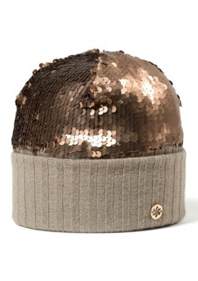 Ladies hat Granadilla Sparkling Wool Gold