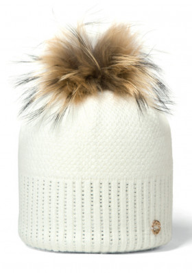 Women's knitted hat Granadilla Sparkle Beanie Chic white