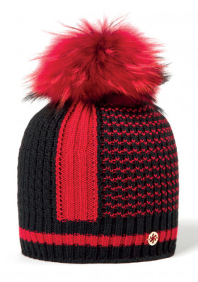 Ladies hat Granadilla Inlay Merinos Chic Red