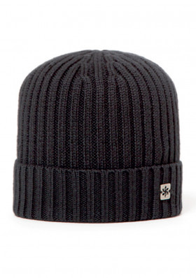 Men's cap GRANADILLA WOOL BEANIE BLACK