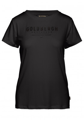 Women's T-shirt Goldbergh DAISY short sleeve top BLACK