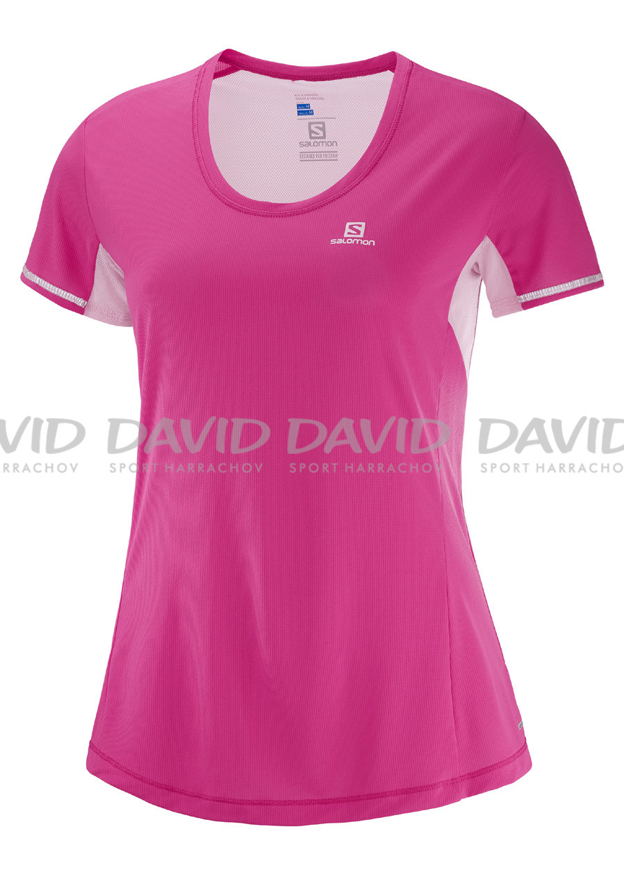 Ladies T-shirt Salomon Agile Ss Tee W Pink Yarrow