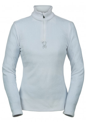 Women's turtleneck SPYDER 194091-100 -W SHIMMER BUG-ZIP T-NECK-WHITE