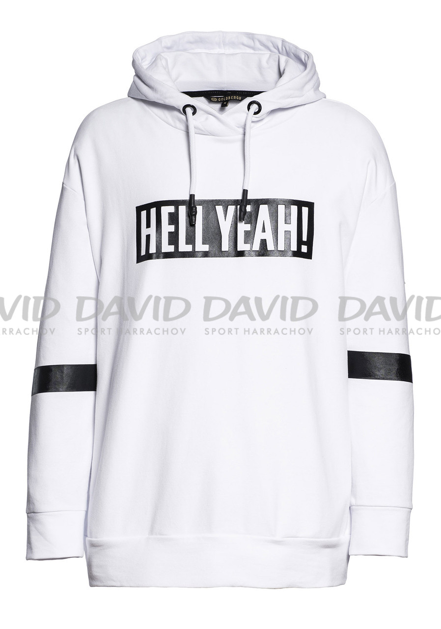 detail Women's sweatshirt Goldbergh Heavenly white