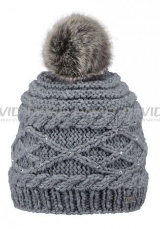 detail Women's hat BARTS CLAIRE BEANIE HEATHER GRAY