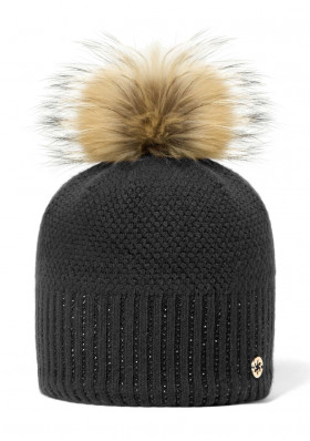 Women's hat GRANADILLA SPARKLE BEANIE CHIC BLACK