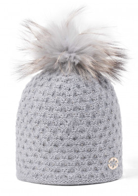 Women's hat GRANADILLA HONEYCOMB STRASS PEARL GRAY