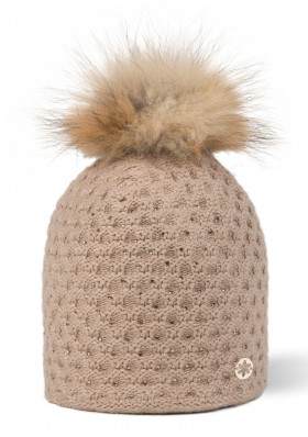 Women's hat GRANADILLA HONEYCOMB STRASS BEIGE