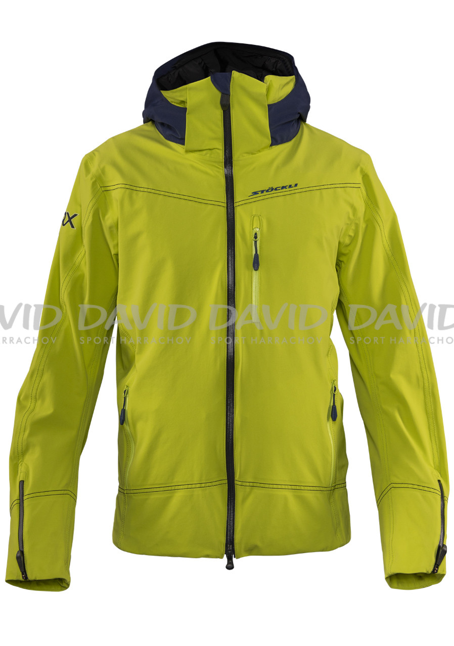 detail Men's Stockli Skijacket WRX M lime padded