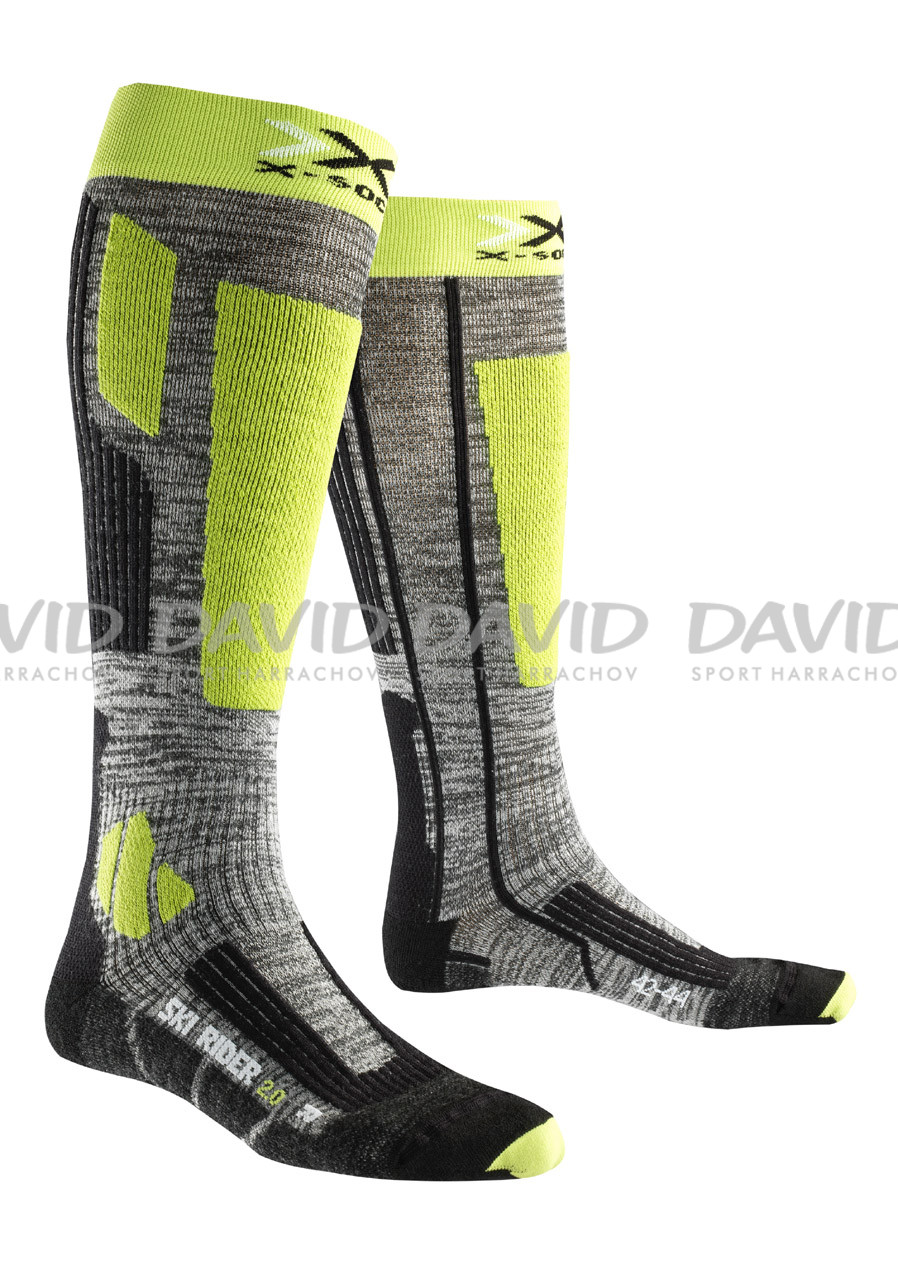 Men's socks X-SKI SOCK RIDER Lime Green