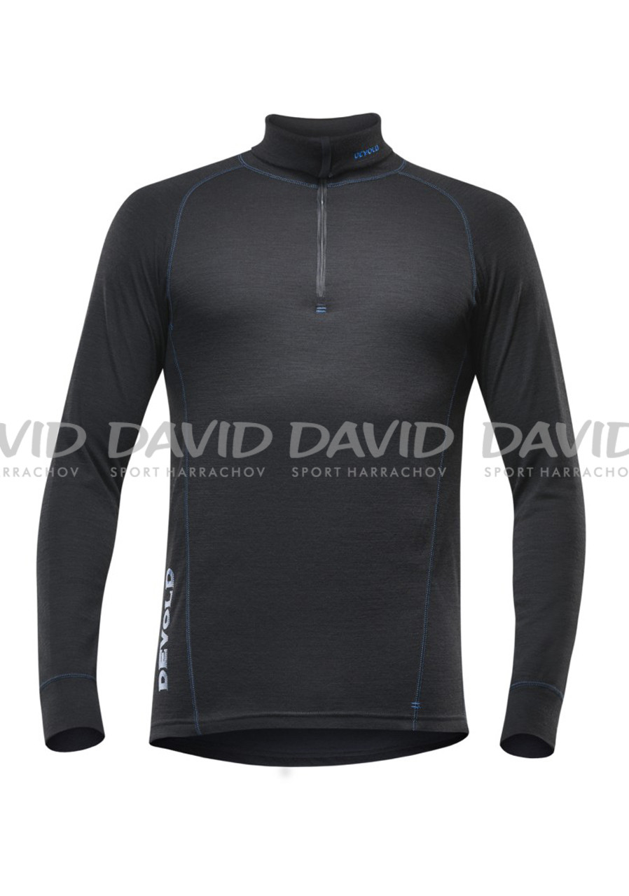 Men's T-shirt DEVOLD DUO ACTIVE MAN ZIP NECK BLK