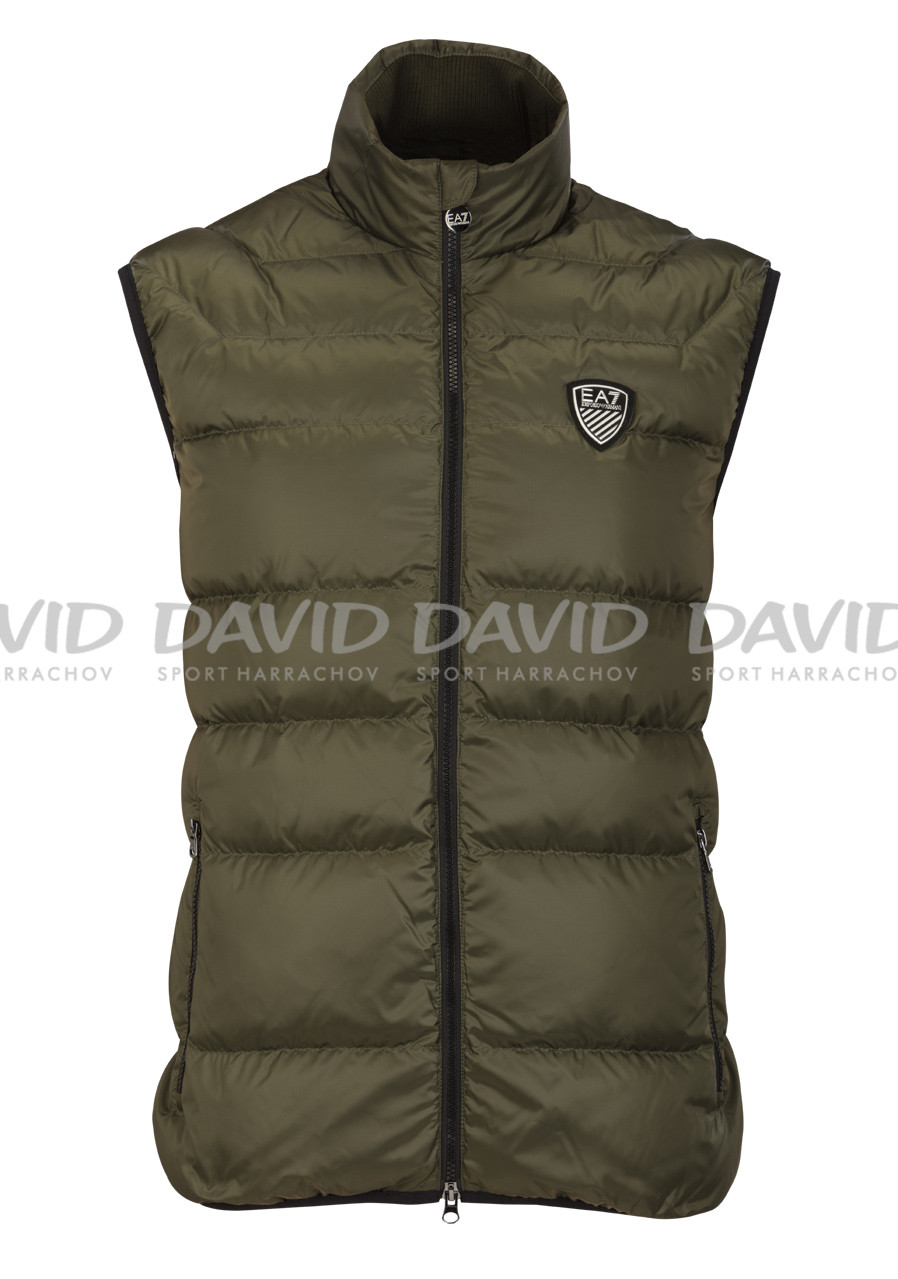 detail Mens feather vest ARMANI 6XPQ01 WOVEN DOWN GREEN