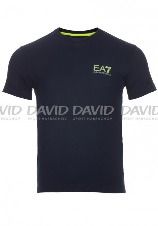 detail Men's T-Shirt Armani 6ZPT14 blue navy