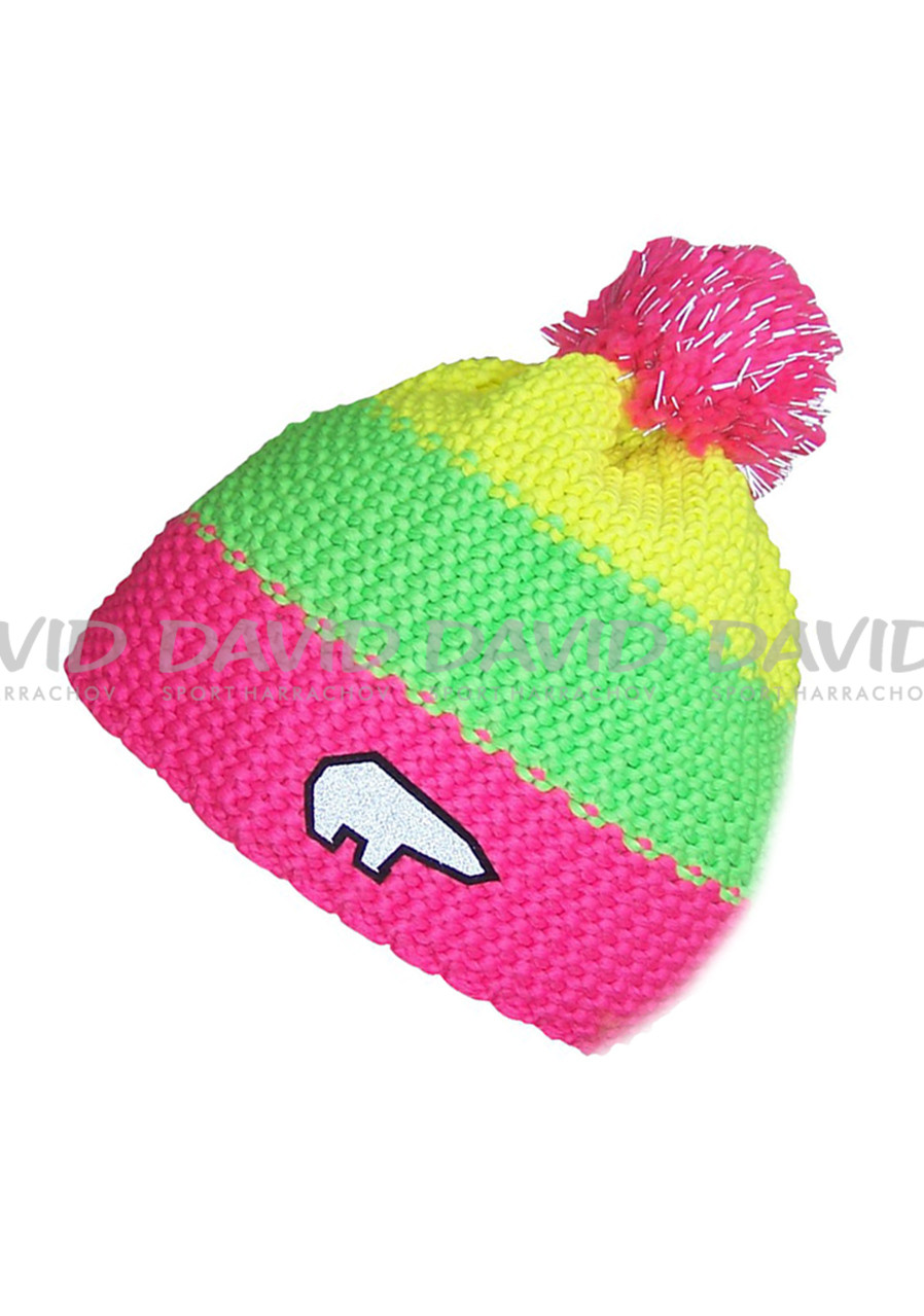 Children´s beanie EISBAR STAR SAFETY POMPON 55