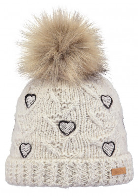 Kids knitted hat Barts Muriel pink