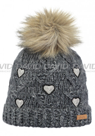detail Kids knitted hat Barts Muriel charcoal