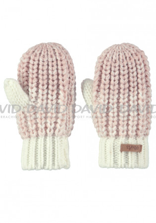 detail Children's knitted gloves Barts Stids Mittens Cream