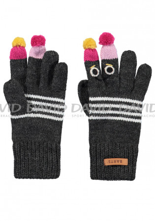 detail Children knitted gloves Barts Puppet Gloves dark heather