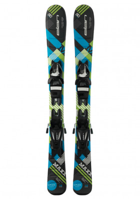Children's downhill skis Elan Maxx black blue QS, binding EL 4.5