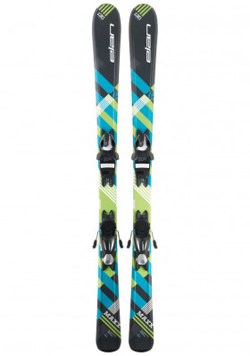 Children's downhill skis Elan Maxx black blue QS bindings EL 7.5