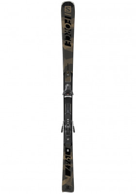 Men's downhill skis Salomon E S / FORCE 1947 + Z12 GW F80 Gy