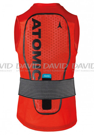 detail Spine protector Atomic Live Shield Vest Amid Red