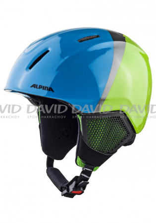 detail Children's ski helmet Alpina Carat LX Green / Blue / Gray