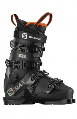 Kids ski boots Salomon S / MAX 65 Black / red
