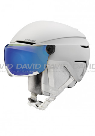 detail Downhill helmet Atomic Savor Visor Stereo White Heath