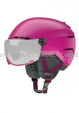 detail Children's downhill helmet Atomic Savor Visor JR Pink