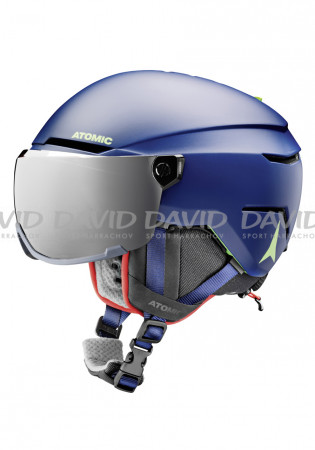 detail Children Downhill Helmet Atomic Savor Visor JR Blue