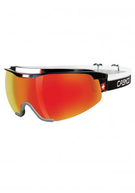 Cross-country ski glasses Casco Spirit Carbonic Black / Red SWISS Edition