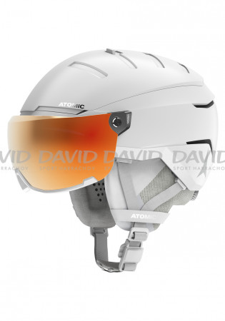 detail Atomic SAVOR GT AMID VISOR HD White ski helmet