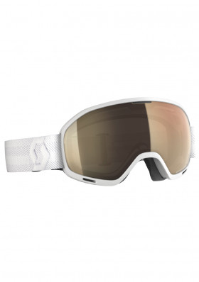 Downhill glasses Scott Unlimited II OTG LS White bronze chrome