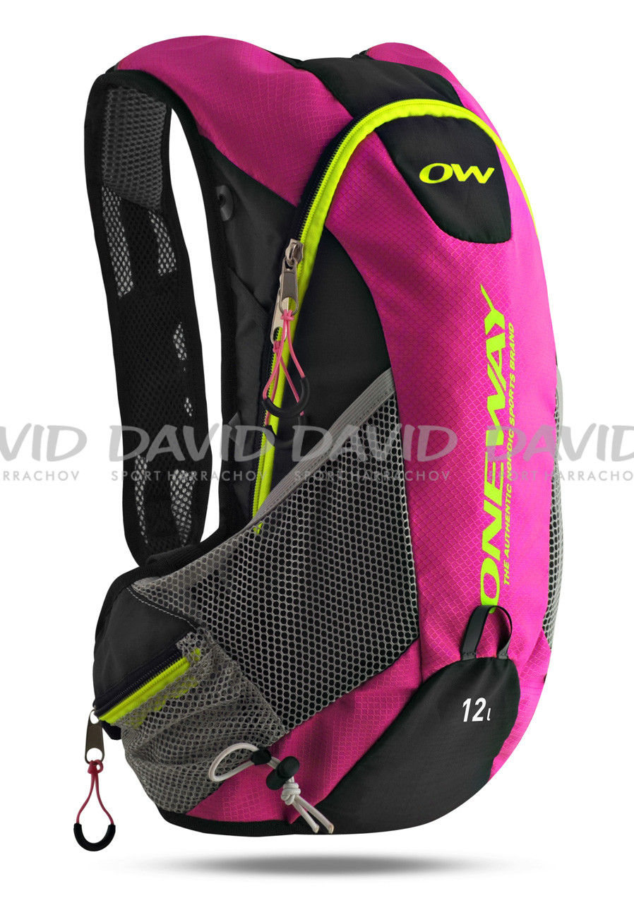 detail ONE WAY RUN HYDRO BACKBAG PINK/BLACK 12 L