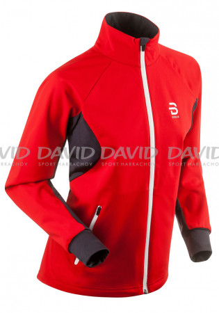 detail Ladies softshell jacket Bjorm Daehlie Beito red