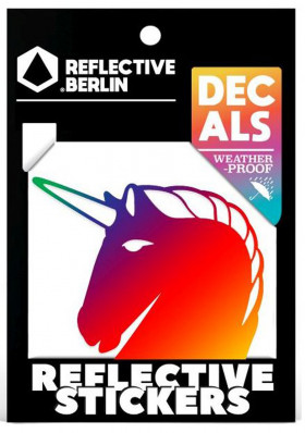 Reflective Berlin Decals - Unicorm - rainbow