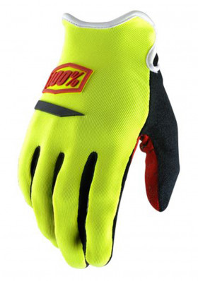 Cycling gloves 100% Ridecamp Glove Neon Yellow