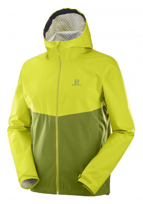 Men's jacket SALOMON LA COTE FLEX 2.5L JKT M CITRONELLE / AVOCA